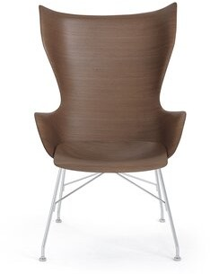 Kartell Lounge Chair Leg Color: Dark Wood/Chrome