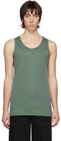 Lemaire Green Rib Knit Tank Top