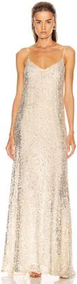 Galvan Estrella Slip Dress in Pearl White | FWRD