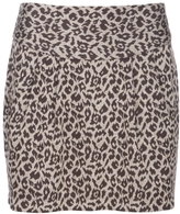 Leopard Knit Skirt