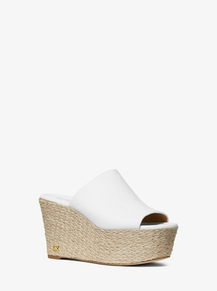 MICHAEL Michael Kors Cunningham Leather Wedge