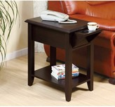 Anaiya End Table with Storage Winston Porter Color: Red Cocoa