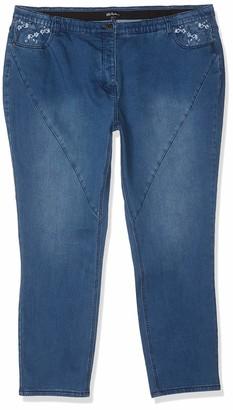 Ulla Popken Women's Jeans mit Stickerei Komfortbund Curvy Groe Groen Straight