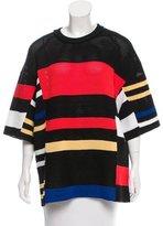 Proenza Schouler Open Knit Striped Top