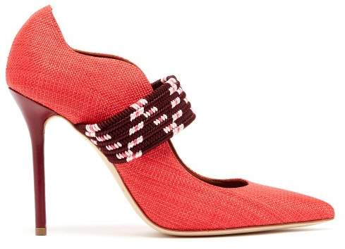 Malone Souliers Mannie Woven Pumps - Womens - Red Multi