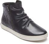 Rockport Women's Sneakers BLACK - Black Embossed Willa Leather Hi-Top Shoe - Women