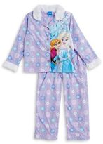 AME Sleepwear Little Girl's and Girl's Two-Piece Anna and Elsa Pajama Top and Pants Set