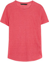 Marc by Marc Jacobs Cotton-paneled linen T-shirt