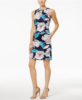 Nine West Floral-Print Keyhole Sheath Dress