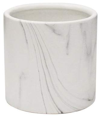 Galorehome Indoor Ceramic Marble Pot, Set of 3, White Marble