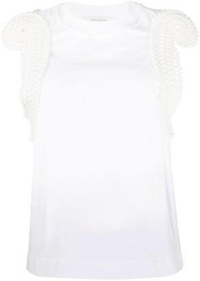 Cédric Charlier Knitted Trim Vest Top