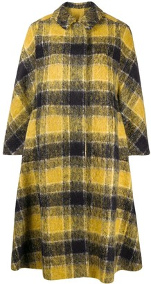 RED Valentino Check Mid-Length Coat