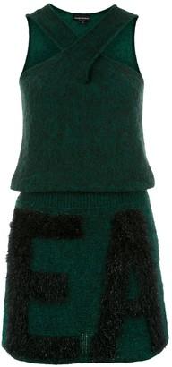 Emporio Armani Logo Knitted Dress