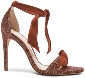 Alexandre Birman Suede and Metallic Fabric Clarita Heels