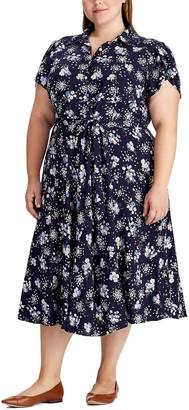 Chaps Plus Size Floral Shirt Dress