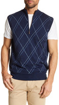 Peter Millar Cashmere Blend Double Raker Quarter Zip Vest