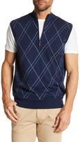 Peter Millar Cotton Cash Double Raker Quarter Zip Vest
