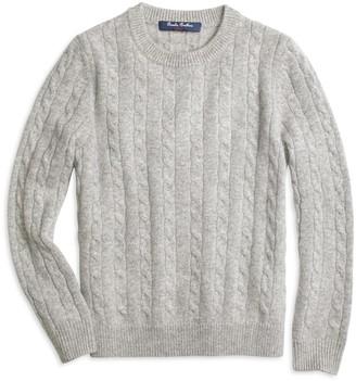 Brooks Brothers Boys Cashmere Cable Crewneck Sweater