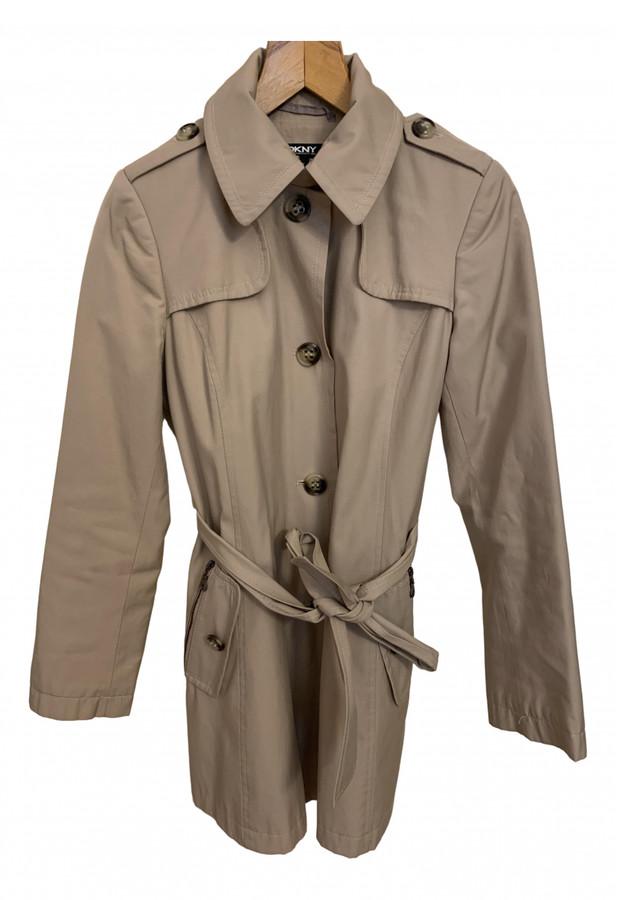 DKNY Camel Cotton Trench coats