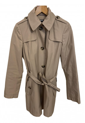 DKNY Camel Cotton Trench coats