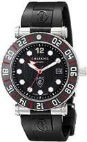 Charriol Men's RT42GMTB142G01 Rotonde Analog Display Swiss Quartz Black Watch