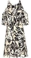 Polo Ralph Lauren Silk cutout shoulder dress