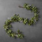 Hearth & Hand with Magnolia Artificial Lamb Ear/White Berry Garland (6ft)