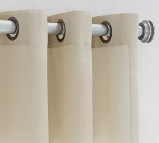 Pottery Barn Indoor/Outdoor Sheer Grommet Curtain - Stone