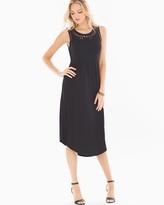 Soma Intimates Cutout Detail Sleeveless Midi Dress Black