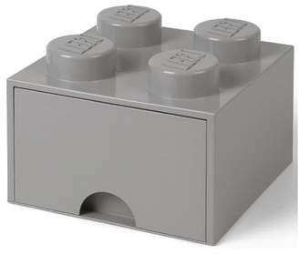 Lego Room Copenhagen Brick Drawer, 4 Knobs, 1 Drawer, Stackable Storage Box, Stone Grey