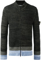 Stone Island ribbed knit cardigan - men - Cotton - XL