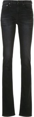R 13 Alison high-rise split-hem flared jeans