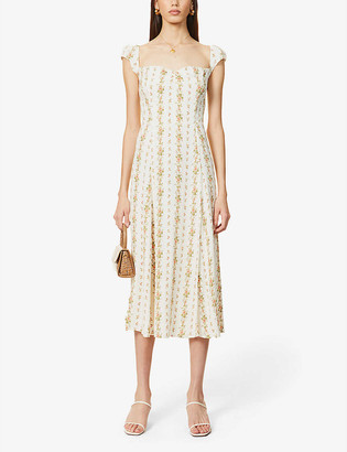 Reformation Levy floral-print woven maxi dress