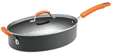Rachael Ray 5QT. Hard Anodized Non-Stick Covered Oval Saute Pan