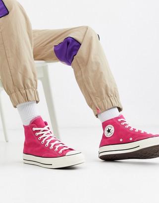 Converse chuck 70 hi sneakers in pink