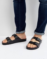 Asos Sandals In Black With Buckle