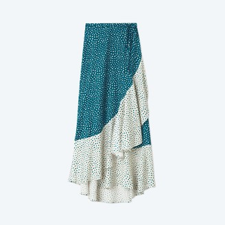 Summersalt The Beach to Brunch Wrap Skirt - On the Dot in Seaweed