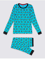 Marks and Spencer Cotton Pyjamas with Stretch (1-16 Years)
