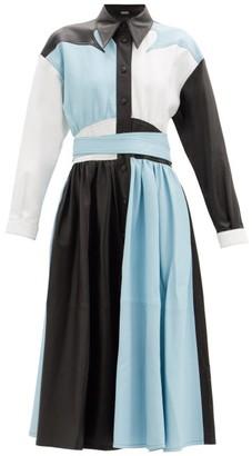 Dodo Bar Or Lisa Colour-block Leather Dress - Blue White