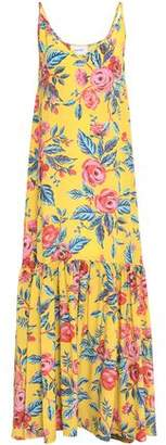 Leone We Are Elke Silk Crepe De Chine Maxi Slip Dress