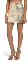 Missguided Women's Crackled Metallic Miniskirt