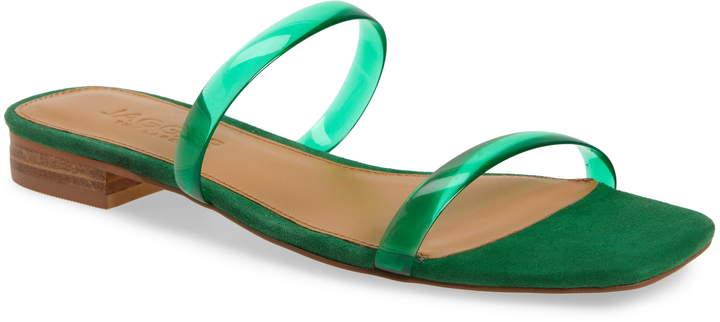 Jaggar Transparent Strap Slide Sandal
