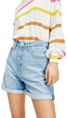 Tommy Jeans Heritage Recycled Denim Button Fly Shorts Lt