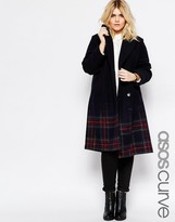 Asos Coat in Ombre Check