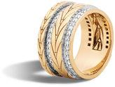John Hardy Modern Chain Band Ring with Diamonds