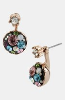 Betsey Johnson 'Vintage Bow' Crystal Cluster Drop Earrings