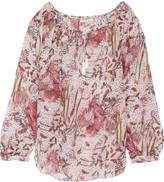 IRO Arzela printed silk-chiffon blouse
