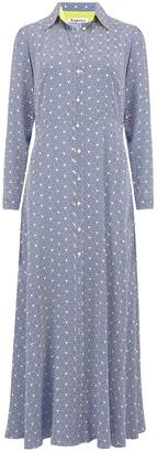 Libelula Maxi Lucinda Dress Blue Stripey Triangle Print