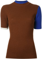 Enfold ribbed-knit top
