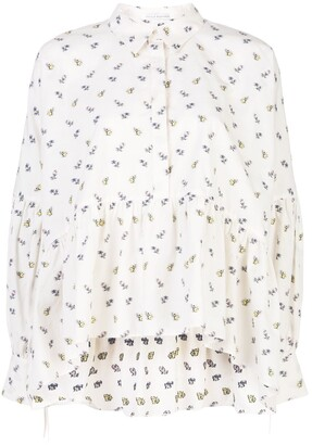 Cecilie Bahnsen All-Over Print Shirt